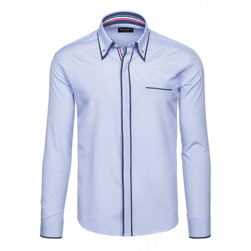 ... rukávem Pánská košile s dlouhým rukávem světle modré barvy. Předchozí 65ca898198