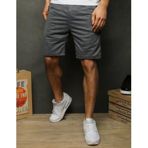 Stylové pánské šedé teplákové kraťasy nad kolena