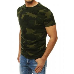 Zelené pánské army tričko