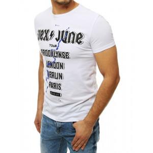 Stylové pánské bílé tričko s krátkým rukávem