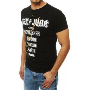 Černé pánské tričko s originálním potiskem