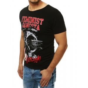 Originální černé pánské tričko s potiskem