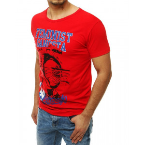 Červené pánské tričko s originálním potiskem