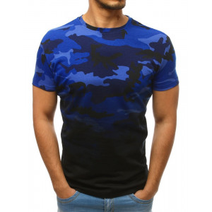 Originální pánské modré tričko s army potiskem