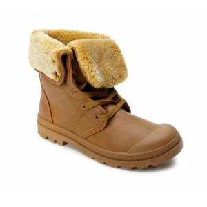 Světle hnědé dámské zimní boty s kožíškem