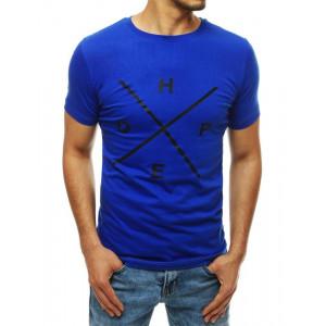 Pánské modré tričko s potiskem a nápisem HOPE