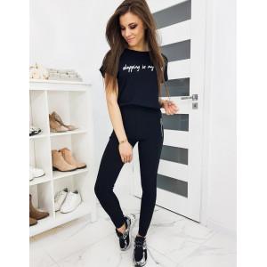 Černé dámské obtažené kalhoty s kapsami na zip