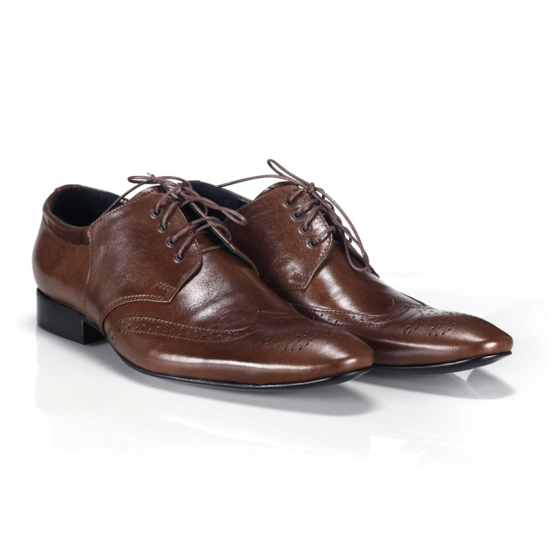 20febc9ad0 ... společenská obuv Italské kožené pánské boty hnědé barvy COMODO E SANO.  Předchozí
