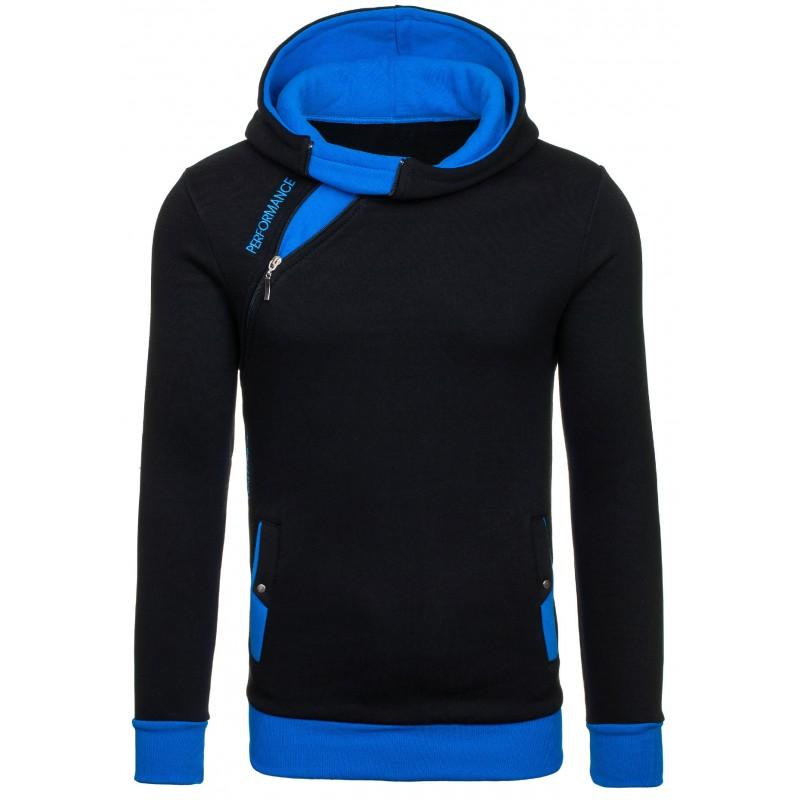 ... kapucí Pánská mikina černo-modré barvy s kapucí. Předchozí 10f9cc9460