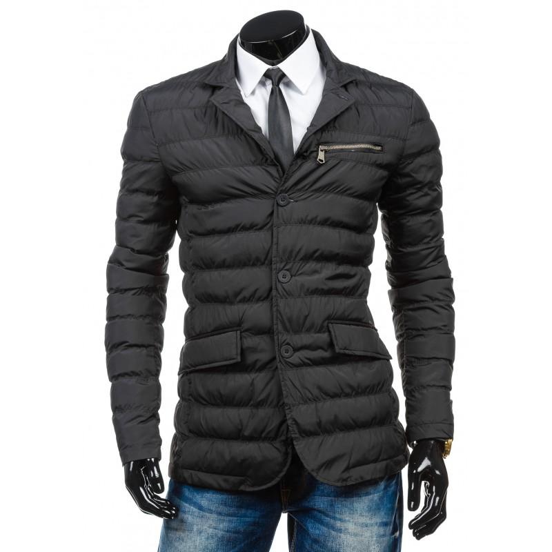 ... bundy Elegantní pánská přechodná bunda černé barvy. Předchozí c152875a3e7