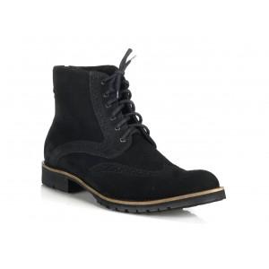 Pánské kožené boty černé barvy COMODO E SANO