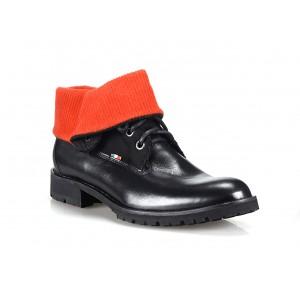 Černé pánské kožené boty COMODO E SANO