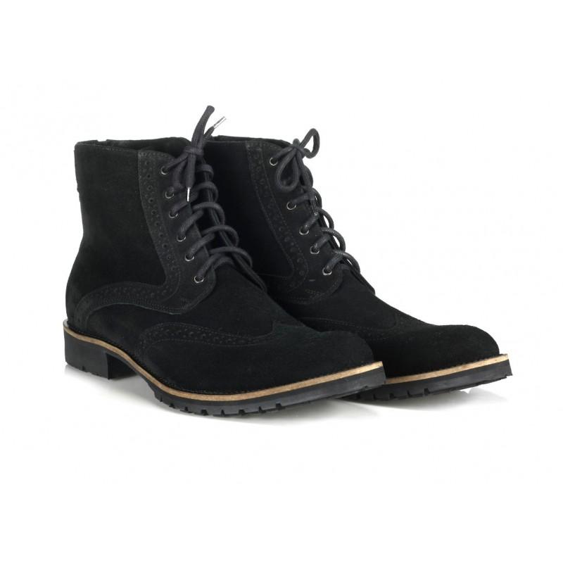 4067a986a2b Italské pánské boty černé barvy COMODO E SANO - manozo.cz