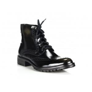 Pánské kožené boty COMODO E SANO černé barvy