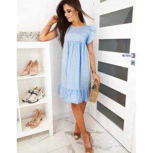 Stylové dámské oversize letní modré šaty