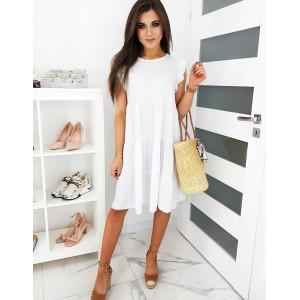 Bílé letní šaty pro dámy