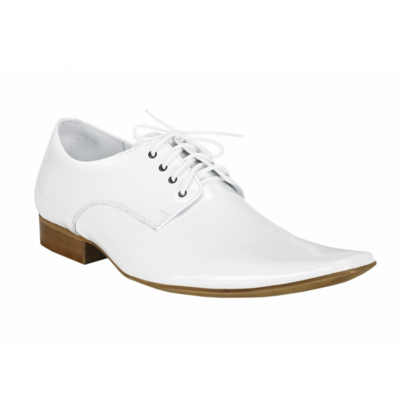 ... obuv Pánské kožené společenské boty COMODO E SANO bílé barvy. Předchozí b463dbffec