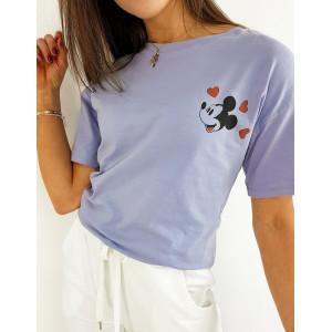 Fialové dámské tričko se zadním potiskem disney postavičky