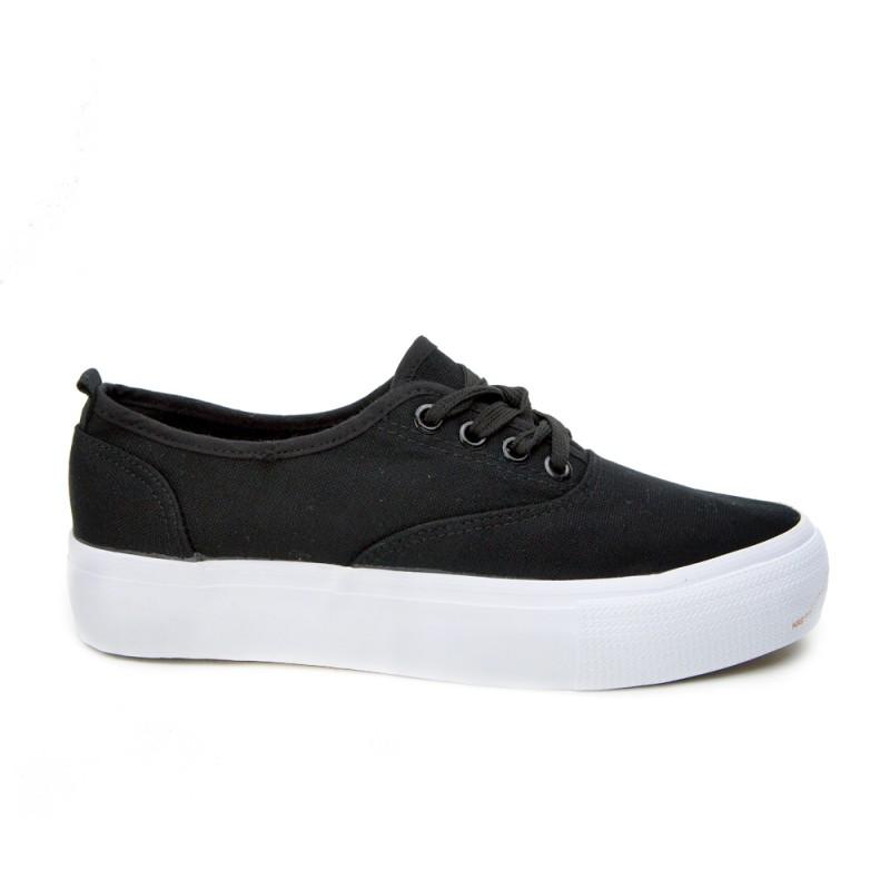 ... obuv Dámské tenisky černé barvy s tlustou podrážkou. Předchozí 811c7e83bd2