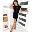 Černé dámské asymetrické mini šaty