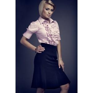 Růžová dámská košile s krátkým rukávem