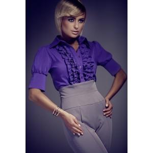 Fialová formální dámská košile