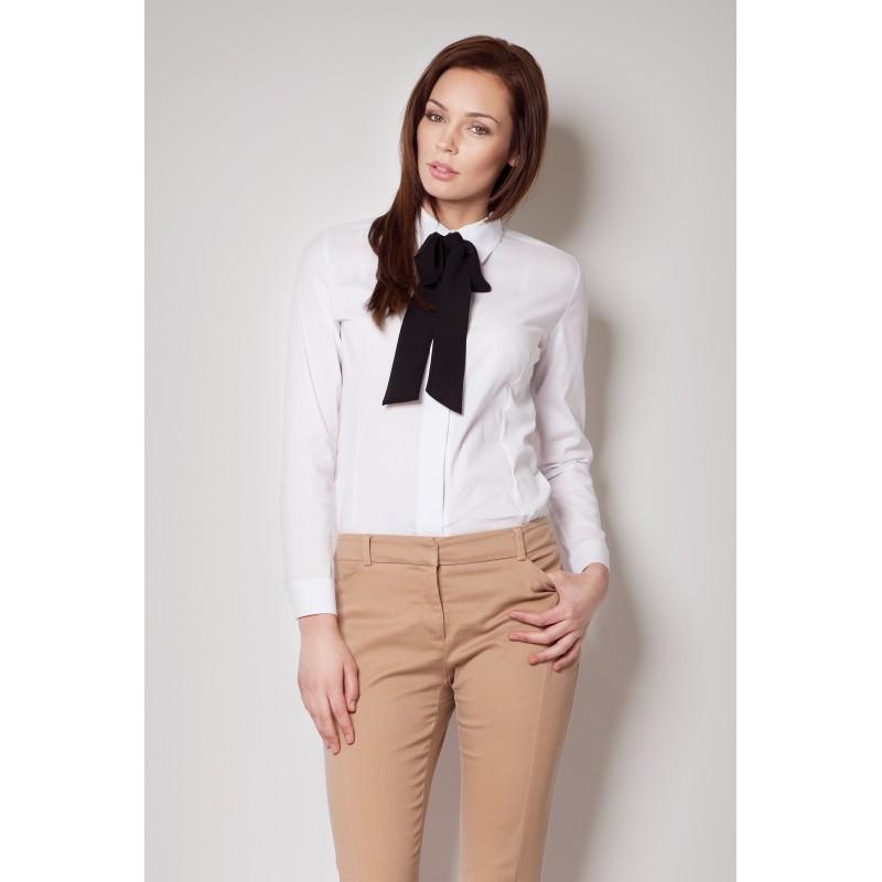 ... košile Bílá dámská košile s černou mašlí. Předchozí f8d32193b5