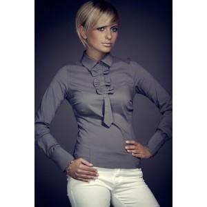 Formální dámská košile šedé barvy