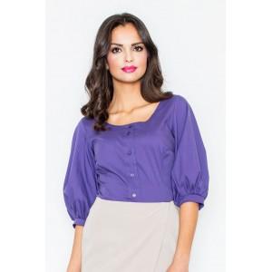 Dámská fialová košile s krátkým rukávem
