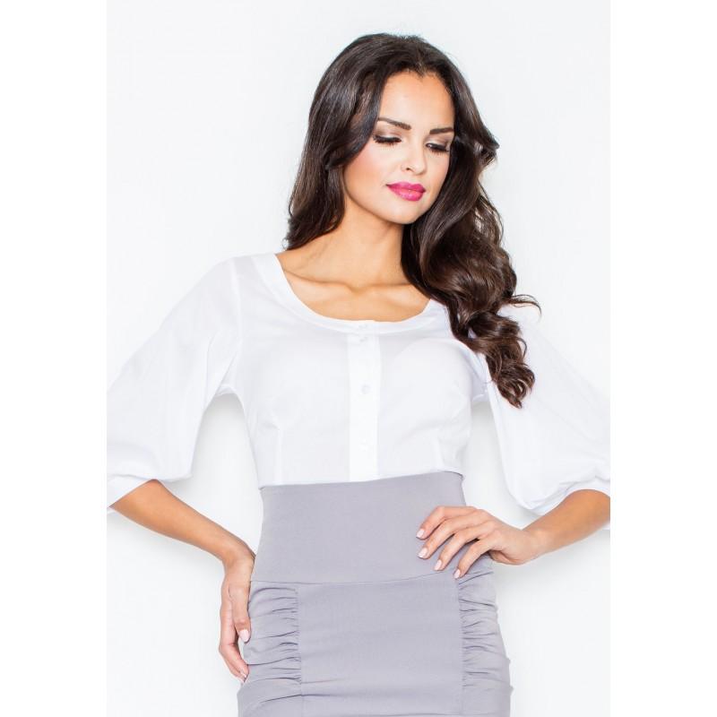 Dámská bílá košile - manozo.cz dc5cf87419
