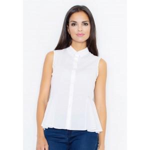 Společenská bílá košile bez rukávů