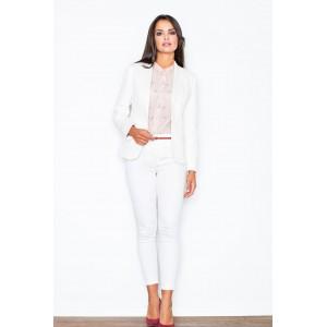 Dámské formální sako bílé barvy