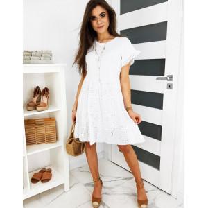 Dámské bílé šaty v klasickém stylu