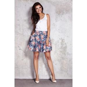 Dámská letní sukně s květinovým vzorem