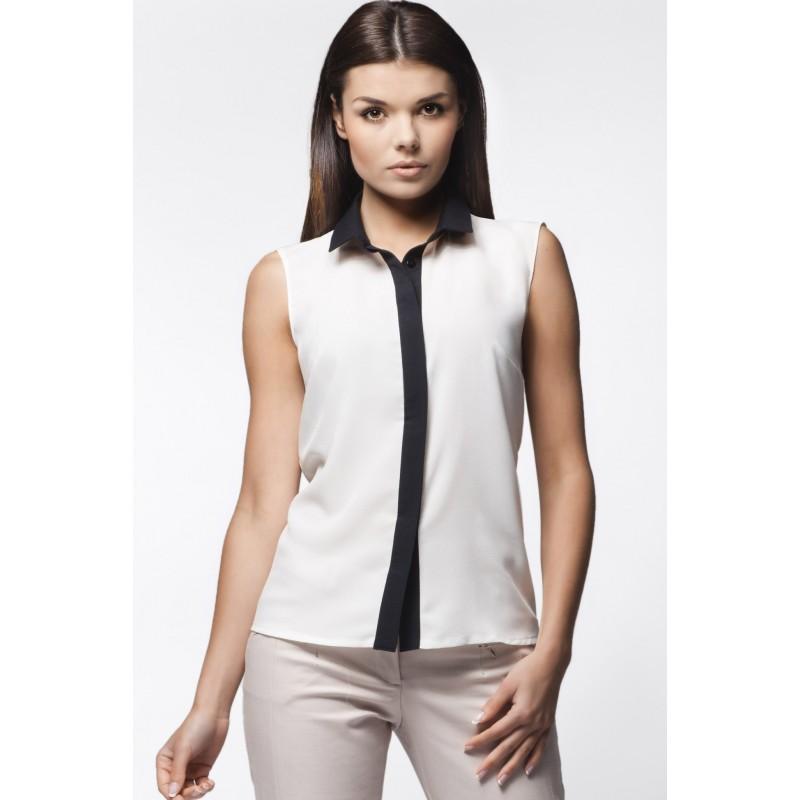 Dámská bílá košile s černým límcem - manozo.cz 9ccccbdc6f