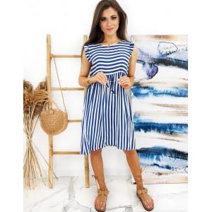 Dámské šaty v namorickom modrém stylu