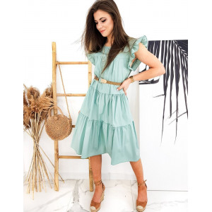 Dámské luxusní šaty v jarně zelené barvě