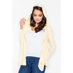 Dámský žlutý svetr s kapucí