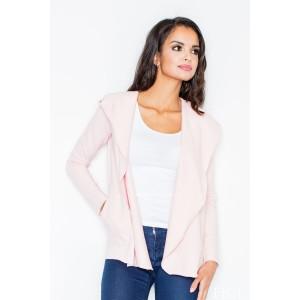 Dámský růžový svetr s kapsami