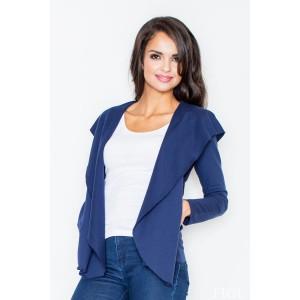 Dámský volný svetr modré barvy