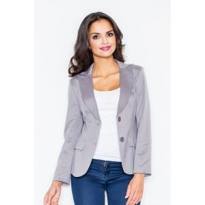 Elegantní dámské sako šedé barvy