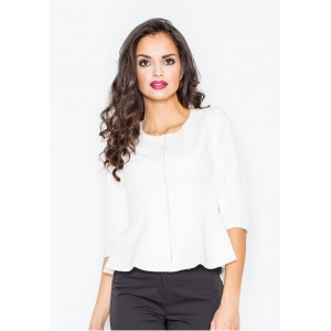 Bílé dámské sako na zip
