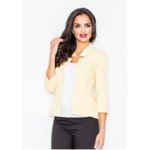 Žluté společenské sako pro dámy