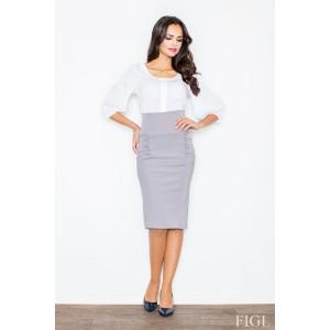 Dámská sukně po kolena šedé barvy