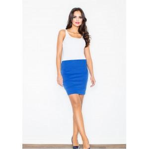 Modrá společenská dámská sukně s pruhy