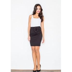 Elegantní černá sukně s mašlí na boku