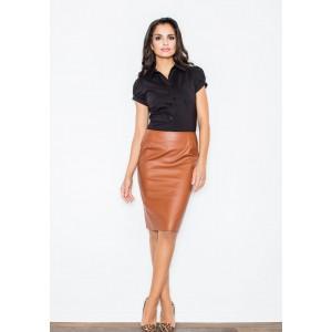 Formální dámská sukně hnědé barvy