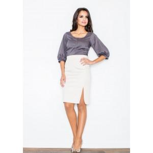 Dámská společenská sukně béžové barvy