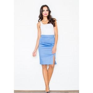 Elegantní dámská sukně modré barvy