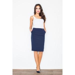 Tmavě modrá dámská sukně